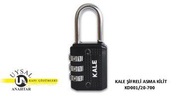 Kale Şifreli Asma Kilit KD001/20-700