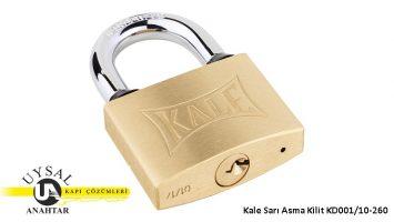 Kale Sarı Asma Kilit KD001/10-260