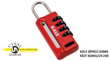 Kale Şifreli Asma Kilit KD001/20-200