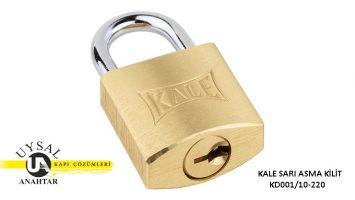 Kale Sarı Asma Kilit KD001/10-220