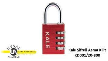 Kale Şifreli Asma Kilit KD001/20-800