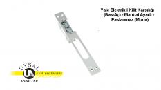 Yale Elektrikli Kilit Karşılığı (Bas-Aç) – Mandal Ayarlı – Paslanmaz (Mono)