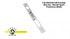 Yale Elektrikli Kilit Karşılığı (Bas-Aç) – Mandal Ayarlı – Paslanmaz (Multi)